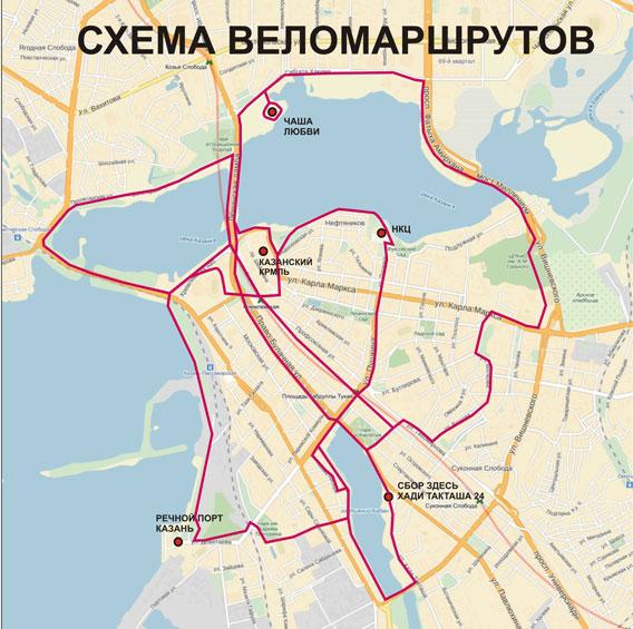 веломаршрутов в Казани.